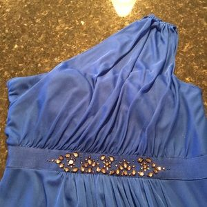 One strap royal Blue evening Gown